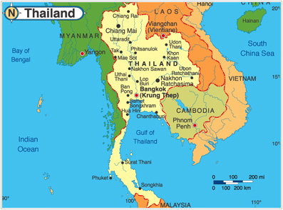 Thailand Topographic Map.The 5th International Conference On Advances In Information